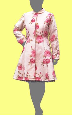 プリンセスラインのコートの型紙 婦人L