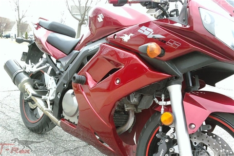 Suzuki,SV650S,with full fairings,2003-2012,フレームスライダー,T-Rex,